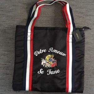 New embroidered tiger tote Gucci style forever 21